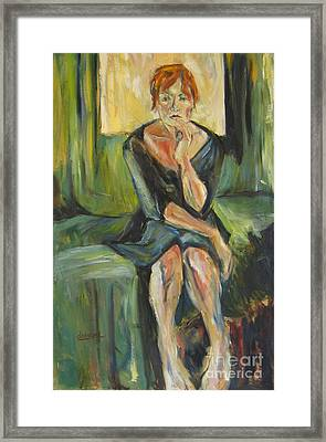 Framed Print featuring the painting Irina by Debora Cardaci