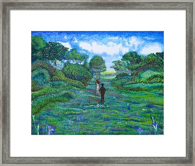 Iris And Vern Framed Print by Tom Hefko