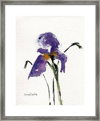 Framed Print featuring the painting Iris  by Anne Duke