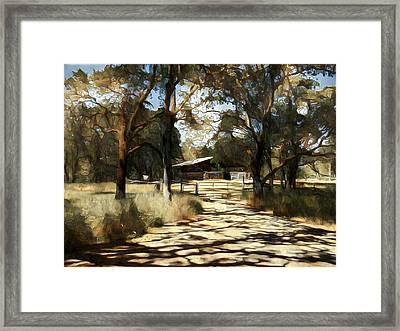 Iris Barn Framed Print