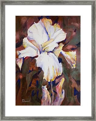 Iris Framed Print by Bob Duncan
