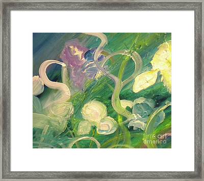 Iris Dancing In The Wind Framed Print