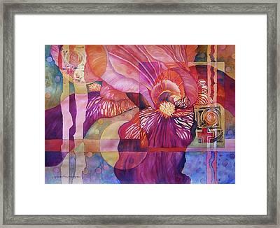Iris Delight Framed Print by Lynda Hoffman-Snodgrass