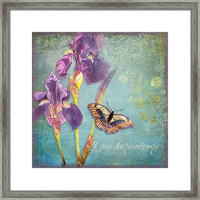 Iris Dreams Framed Print by Audrey Jeanne Roberts