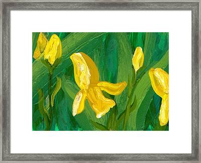 Iris Flow Framed Print by Wanda Pepin