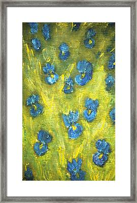 Framed Print featuring the painting Iris Flowers by Evelina Popilian