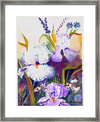 Iris Framed Print by George Markiewicz