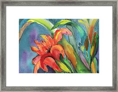 Iris Growing Wild Framed Print