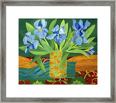 Iris Framed Print by Jennifer Abbot