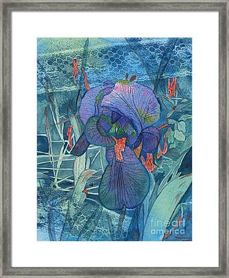Iris Lace With Wild Columbine Framed Print