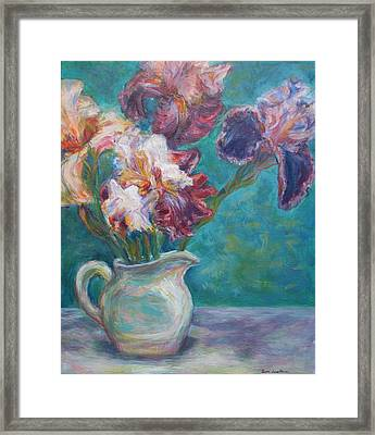 Iris Medley - Original Impressionist Painting Framed Print by Quin Sweetman