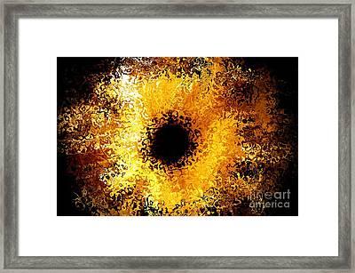 Iris Framed Print by Michael Garyet