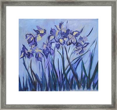 Iris Painting Two Framed Print by Betty Pieper