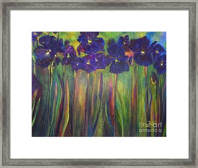 Iris Parade Framed Print