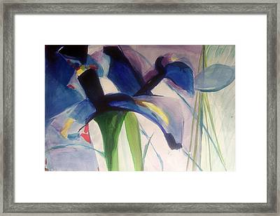 Iris  Power Framed Print