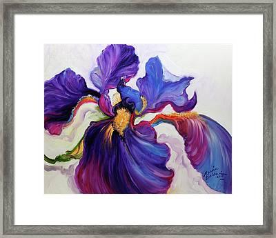 Iris Serenity Framed Print by Marcia Baldwin