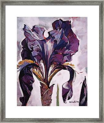 Framed Print featuring the painting Iris Spring by Tim  Heimdal