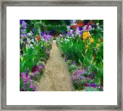 Iris Time In Giverny Framed Print