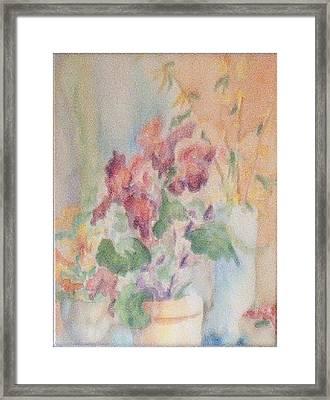 Irises And Company Framed Print by Sheri Hubbard