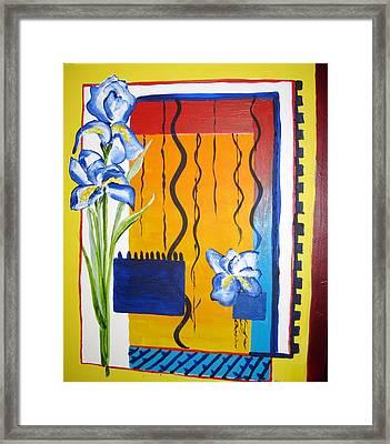 Irises Framed Print
