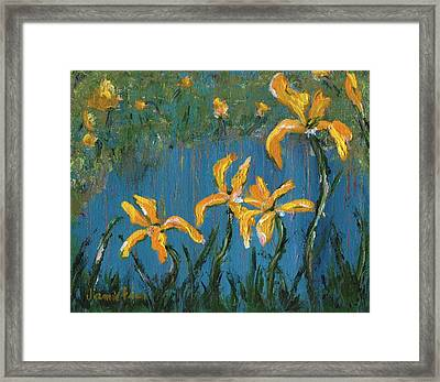 Framed Print featuring the painting Irises by Jamie Frier