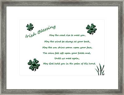 Irish Blessing 2 Framed Print