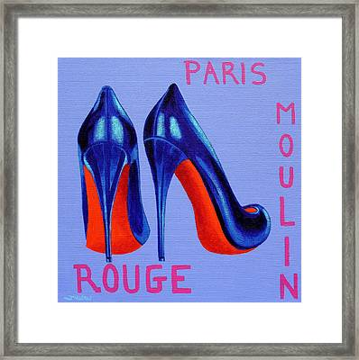 Irish Burlesque Shoes Framed Print