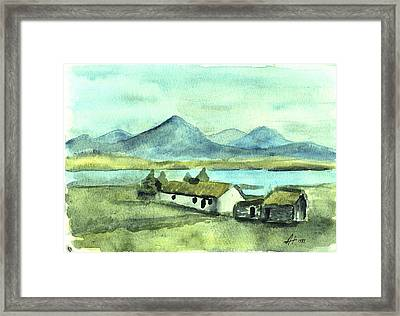 Irish Cottage Framed Print by Alan Hogan