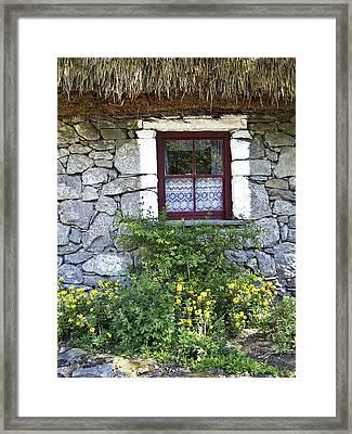Irish Cottage Window County Clare Ireland Framed Print by Teresa Mucha
