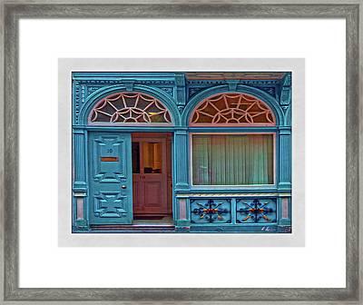 Framed Print featuring the digital art Irish Door by Hanny Heim