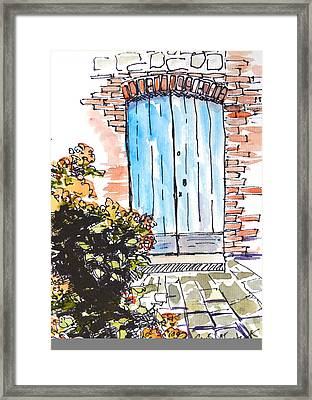 Irish Door Framed Print by Renee Chastant