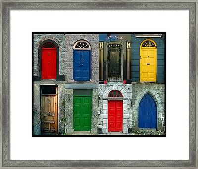 Irish Doors Framed Print by Joe Bonita