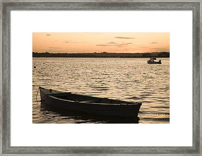 Framed Print featuring the photograph Irish Dusk by Ian Middleton