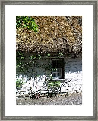 Irish Farm Cottage Window County Cork Ireland Framed Print