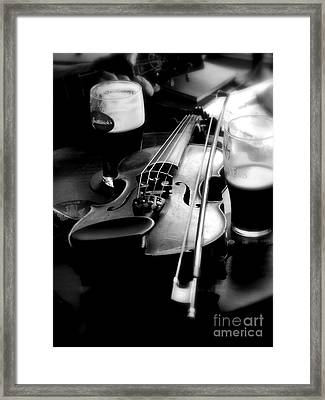 Irish Fiddle On A Break Framed Print