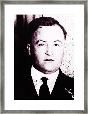 Irish Gangster Dion Obannon Framed Print by Bill Cannon