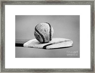 Irish Hurling Ball And Stick Framed Print by Joe Fox