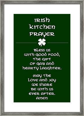 Irish Kitchen Prayer Framed Print by Jaime Friedman