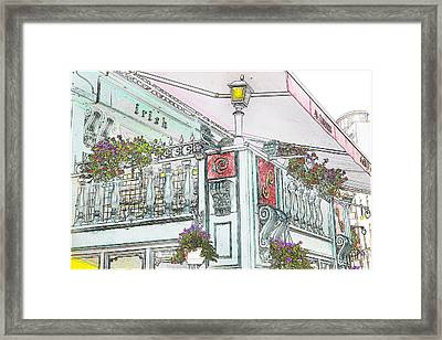 Irish Patio Framed Print by Cecil Fuselier
