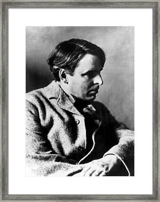 Irish Poet William Butler Yeats Framed Print