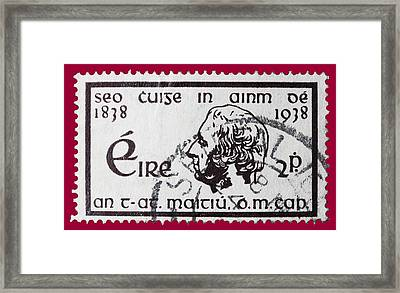 Irish Postage Stamp Framed Print by James Hill