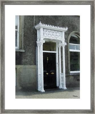 Irish Solicitors Door Framed Print by Teresa Mucha