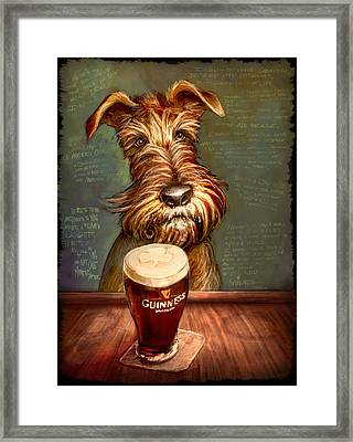 Irish Toast Framed Print by Sean ODaniels