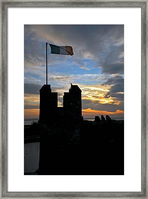 Irish Sunset Over Ramparts 1 Framed Print