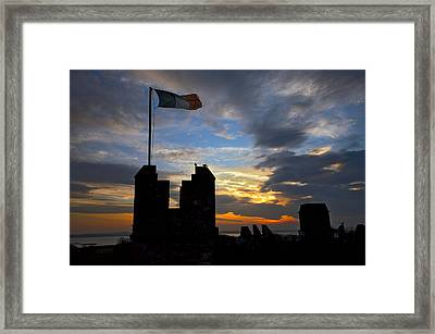 Irish Sunset Over Ramparts 2 Framed Print