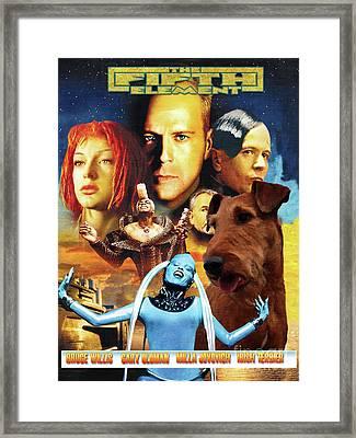 Irish Terrier Art Canvas Print - The Fifth Element Movie Poster Framed Print