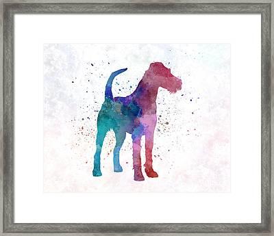 Irish Terrier In Watercolor Framed Print