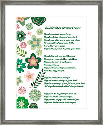 Irish Wedding Blessing Prayer Framed Print