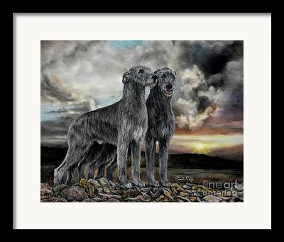 Hounds Drawings Framed Prints