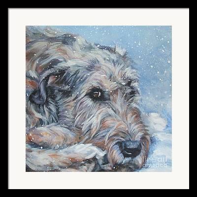 Wolfhound Framed Prints